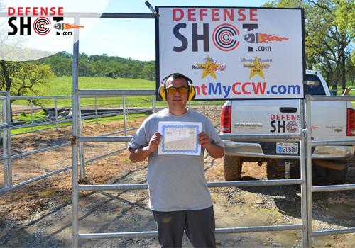 CCW Training Certificate El Dorado County