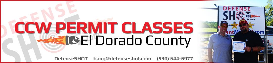 El Dorado County CCW Permit Course