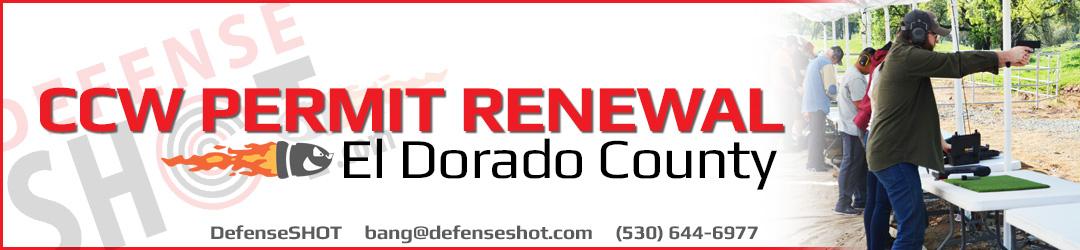 El Dorado County CCW Renewal Permit Course