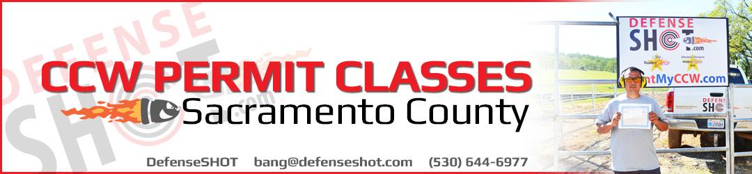Sacramento County CCW Permit Course
