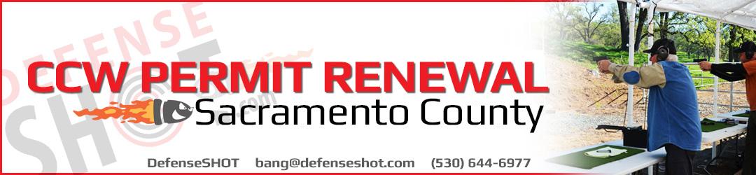 Sacramento County CCW Permit Renewal Course